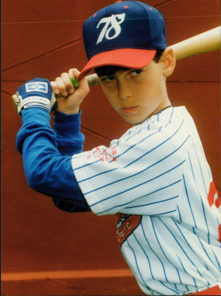 Adam As A Youngster Playing In The Local 78th Precinct Youth Council Baseball Program